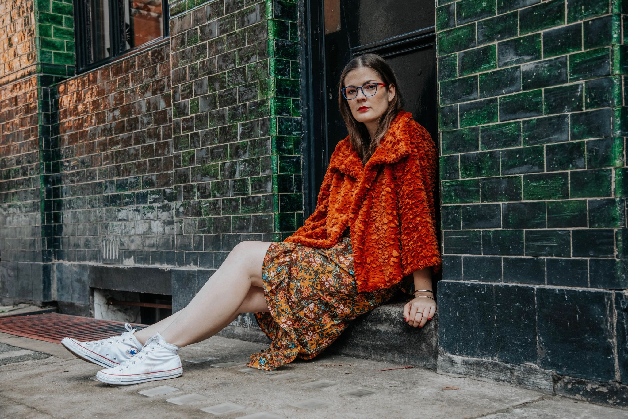 Kate Winney Little Miss Winney Hating Instagram Comparison Orange Jacket Asos Glasses