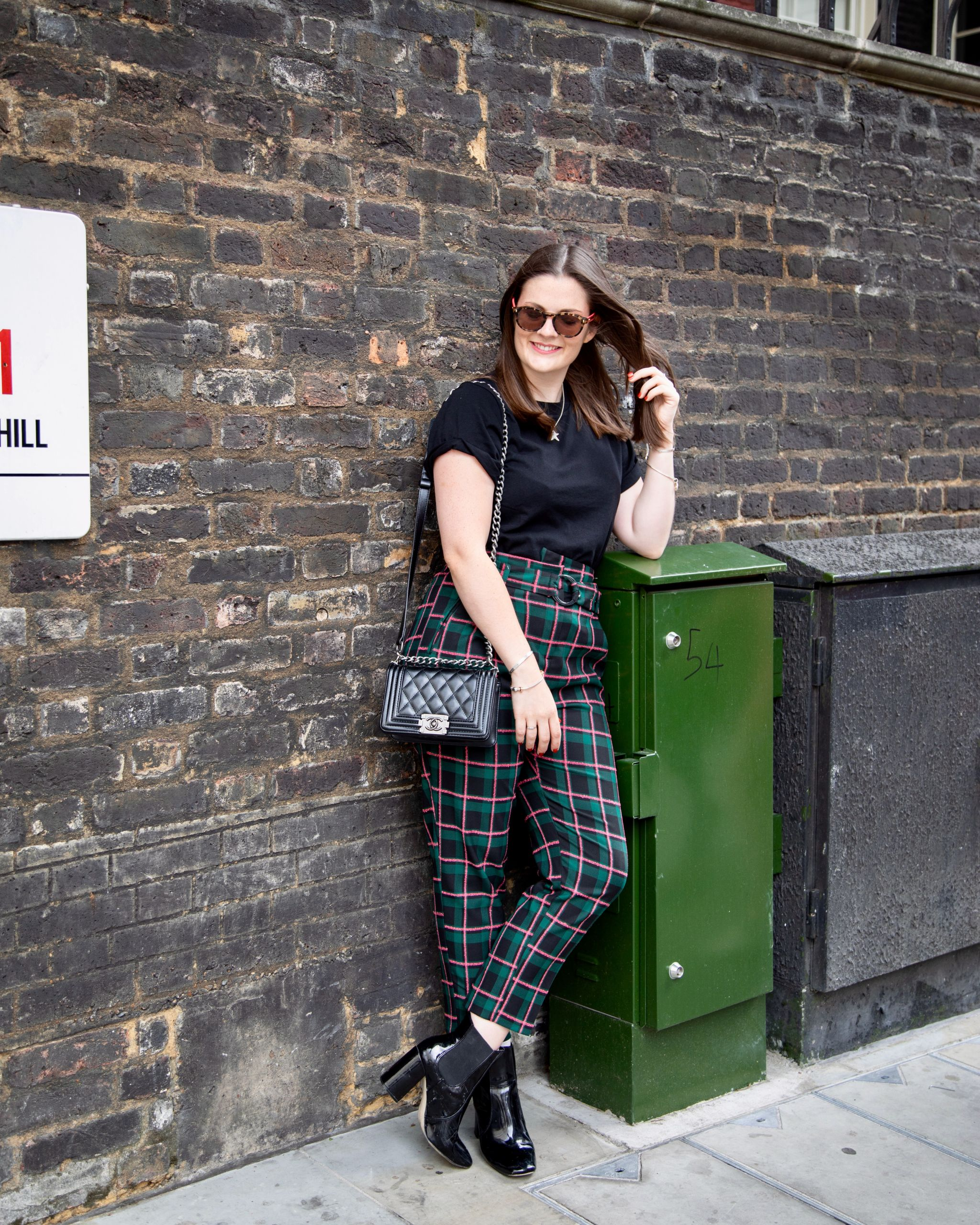 Kate Winney Little Miss Winney Checked Topshop Trousers Chanel Bag
